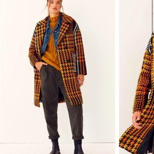 Anthropologie NWT Millie Plaid Coat Size S.
